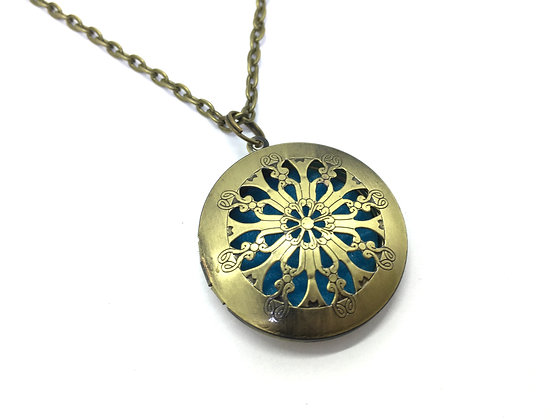 Perfume Locket Brass