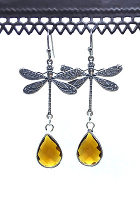 Dragonfly Silver/Amber