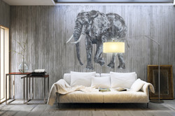mosko fresque elephant