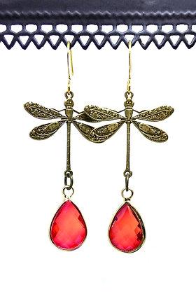 Dragonfly Brass/Red