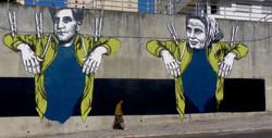 fresque street art Evazesir