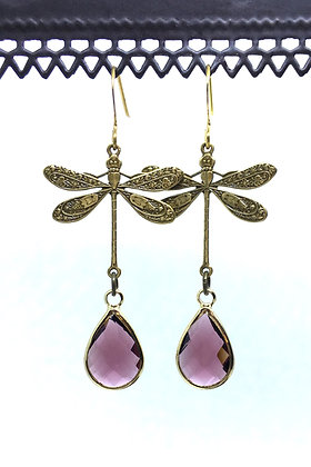 Dragonfly Brass/Purple