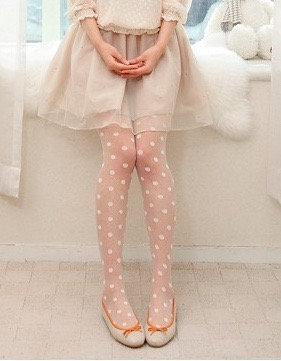 White Dot Pantyhose