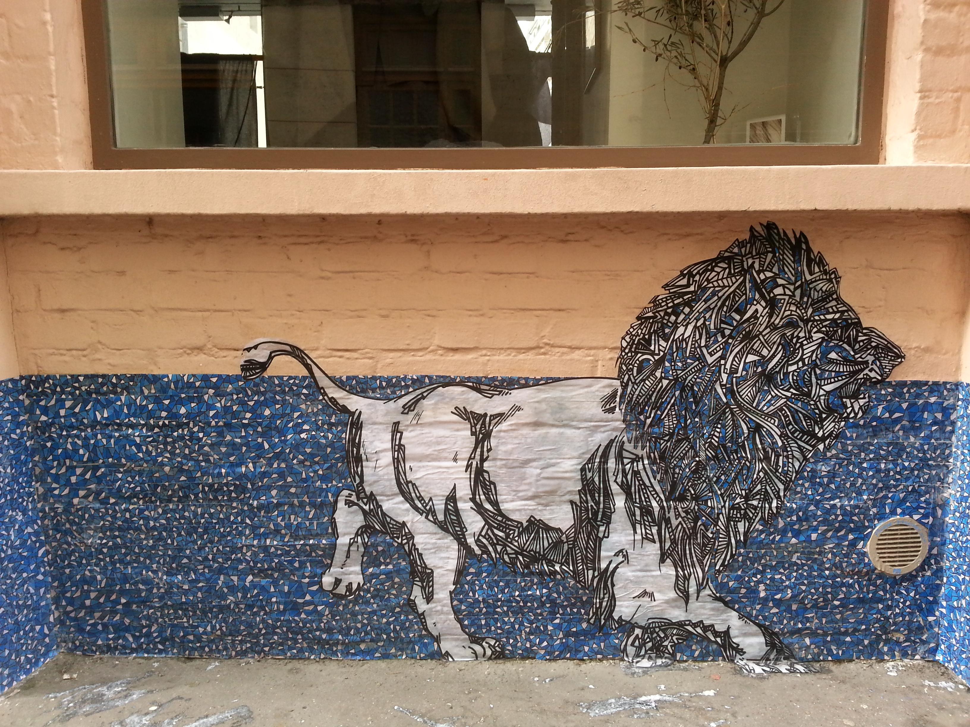 Pop eye fresque lion