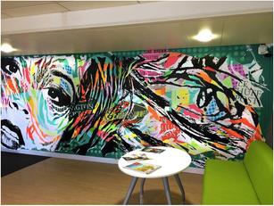 Le street art s'invite dans les entreprises