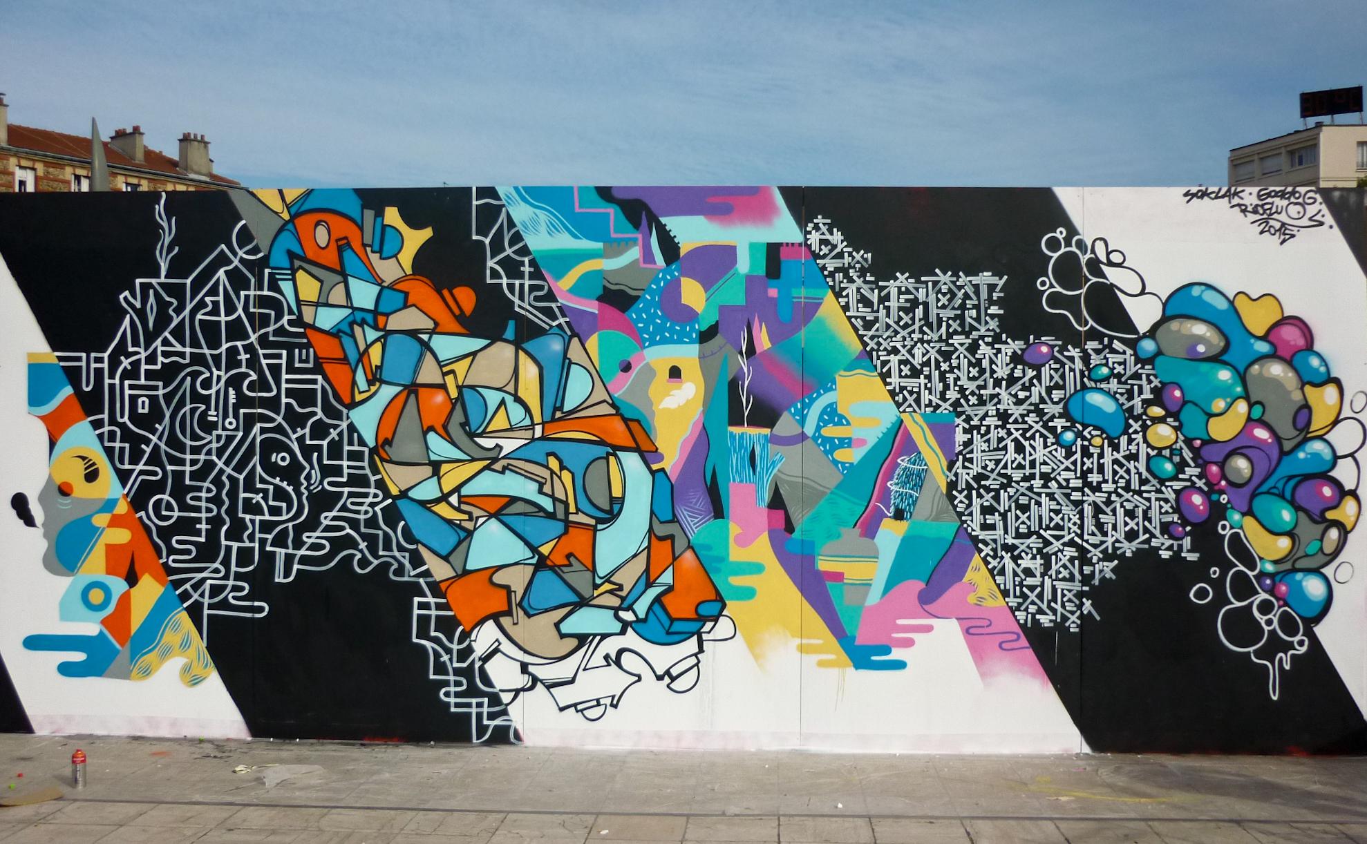 Soklak fresque street graffiti