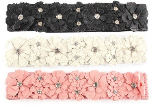 Elastic Flower Belt