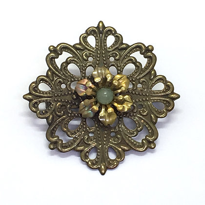 Brooch Light Green