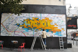 Nasty fresque metro paris
