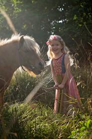 Fairytailor Kjole og Blomsterkrans