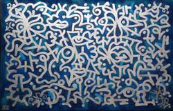 Louis Bottero nuances de bleu