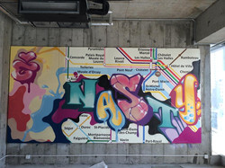 Nasty graffiti métro