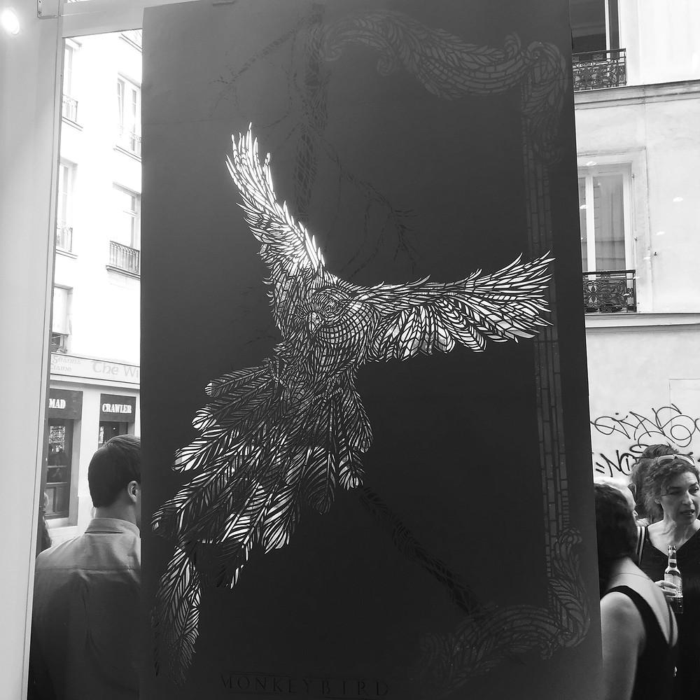 monkeybird street art paris