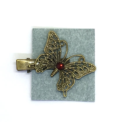 Clip Red Butterfly