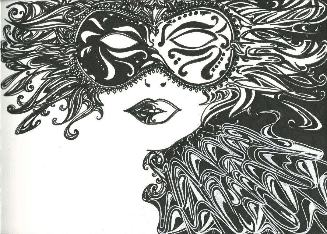 Pop eye femme masquée