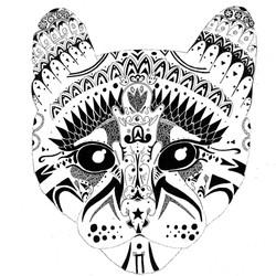 Hadrien Durand-Baïssas felin fresque