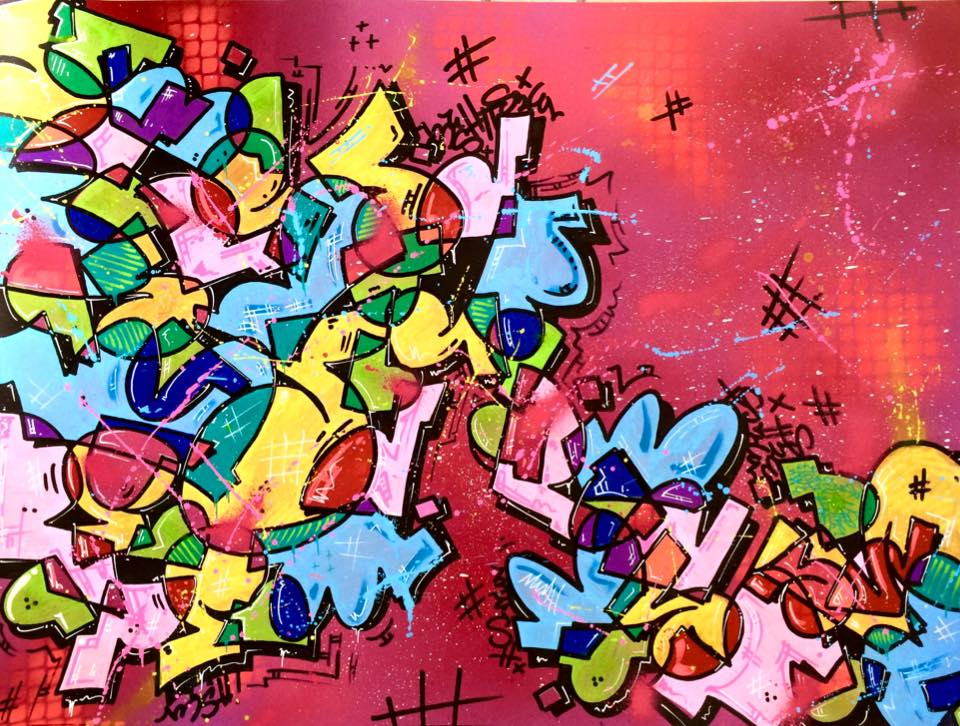 Mush  peinture graffiti letters