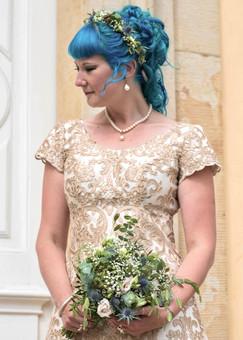 Bryllup. Det mest personlige af alle personlige projekter - min egen brudekjole!! Det var vidunderligt at have mulighed for at kreere og få præcis, hvad jeg ville have. Den perfekte kjole til den perfekte dag.