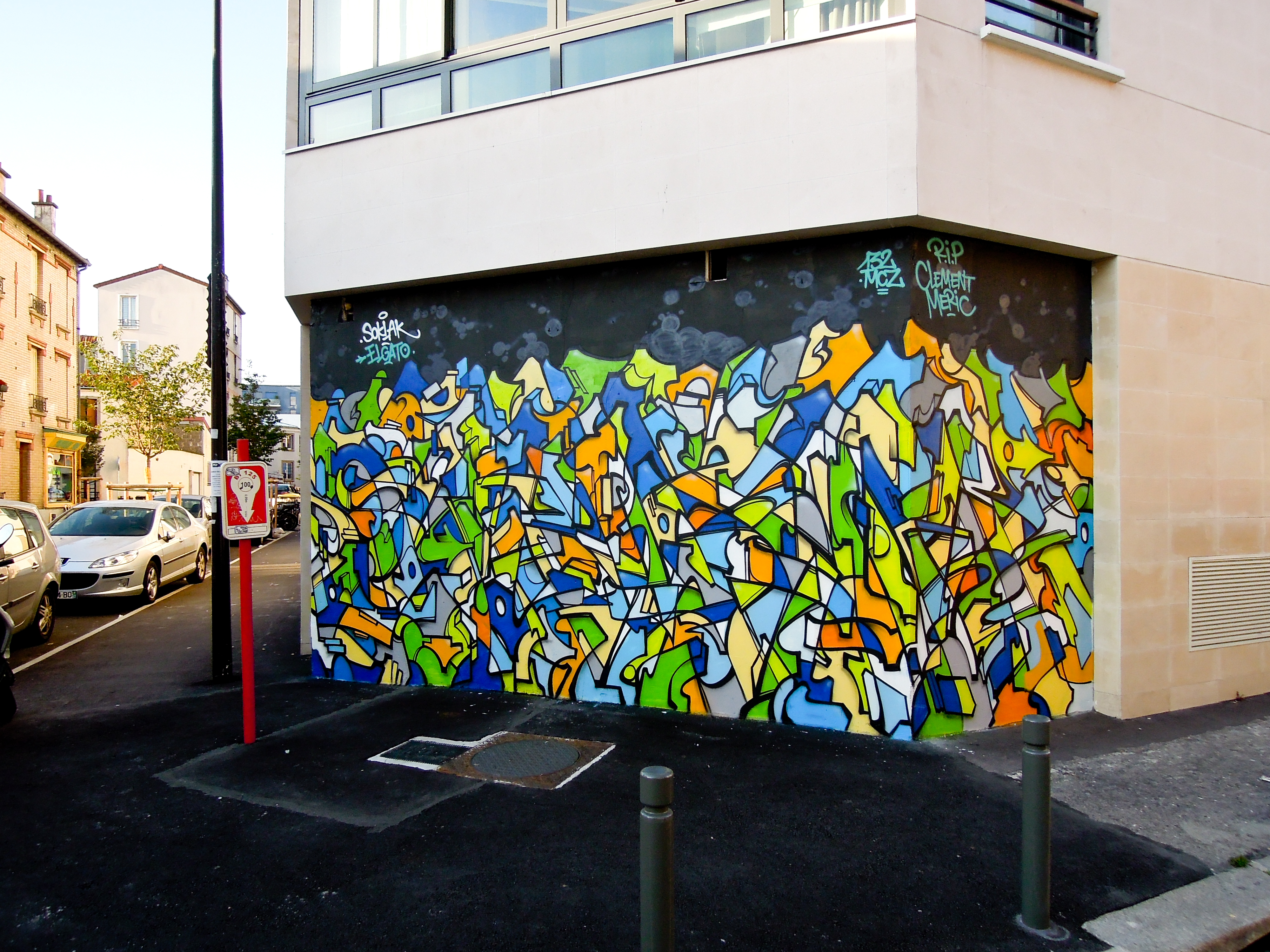 Soklak fresque street
