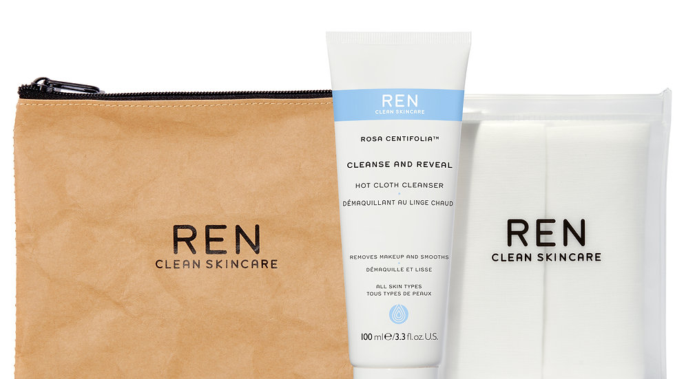 Cleanse and reveal hot cloth cleanser kit