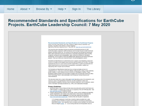 EarthCube Working Together with Standards and Specifications