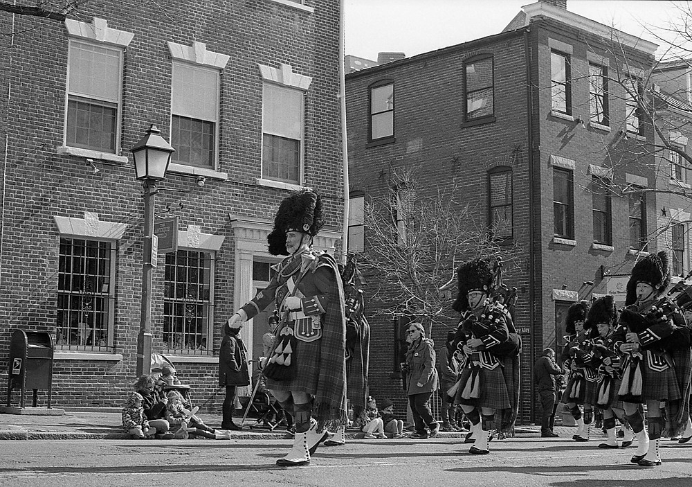 Bagpipers at parade in Alexandria, Virginia