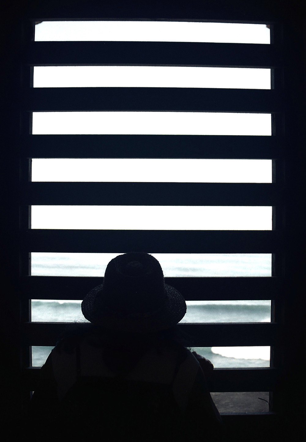 silhouette of a woman in San Juan, Puerto Rico