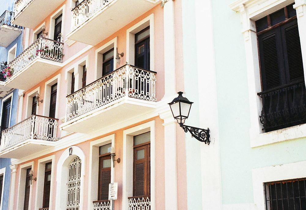 Colorful home, old San Juan