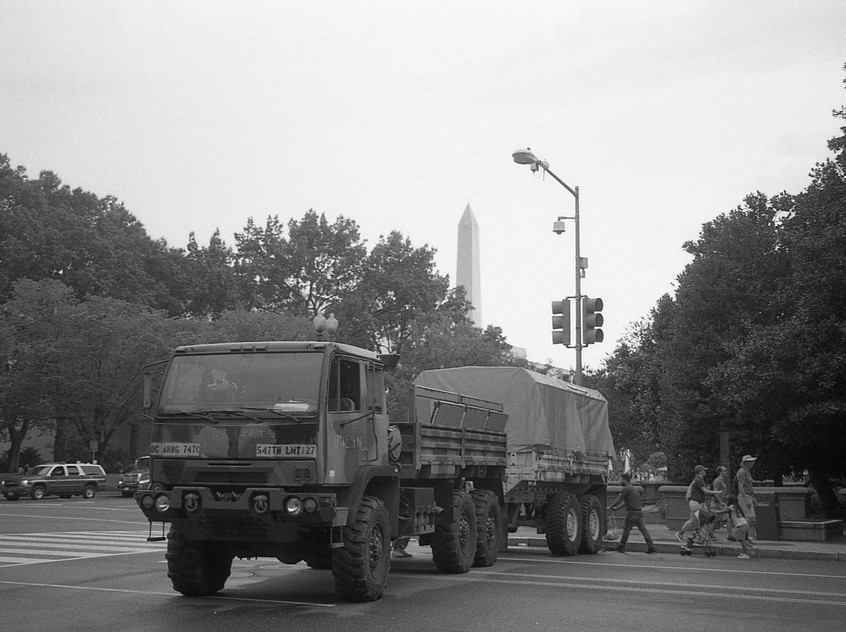 Armored vehicle on the 4th of July. Washington, DC.
