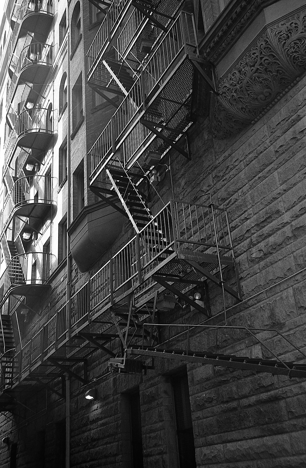 Patterns in fire escapes