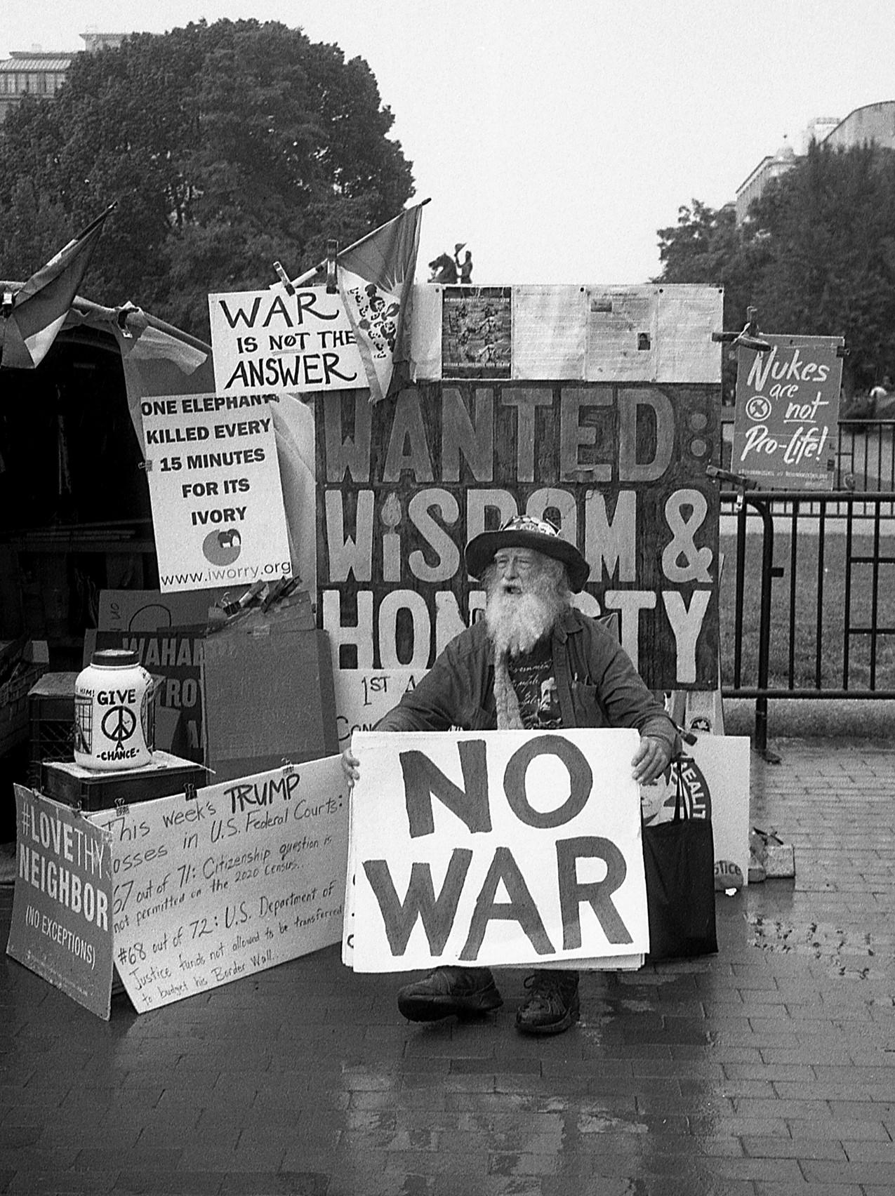 Protester in Washington, DC.
