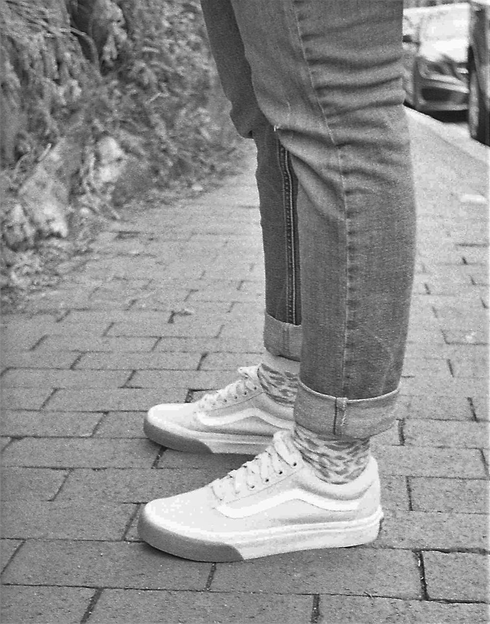 Vans on Larissa's feet