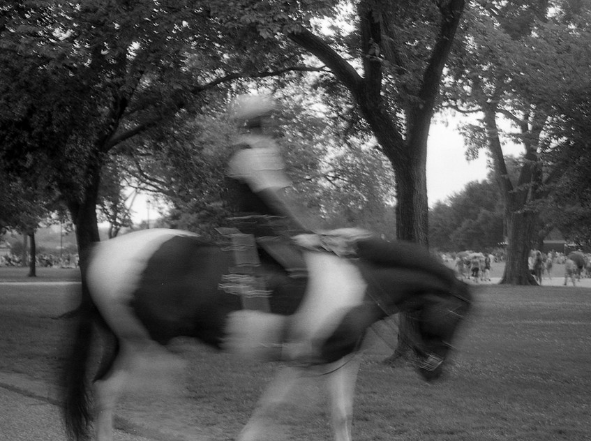 Mounted police on the 4th of July. Washington, DC.