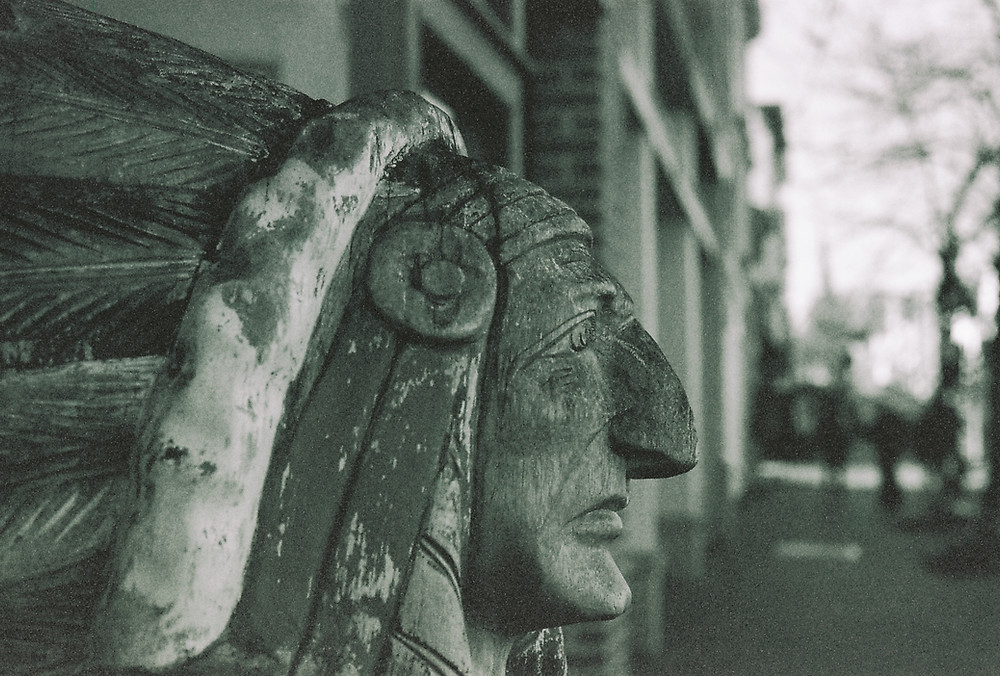 Indian Head at Cigar Shop in Annapolis, Maryland