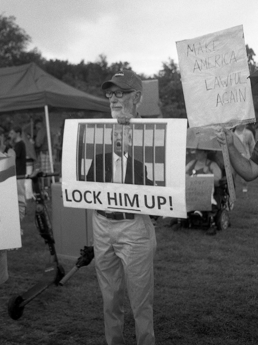 Trump protester.  Washinton, DC.