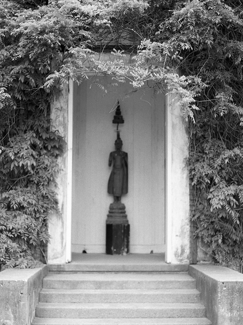 Statue in private garden.  Illinois.