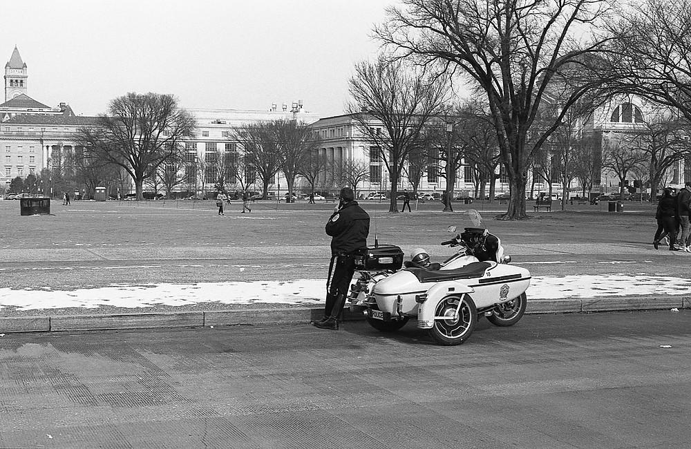 Retro Police Officer in Washington, DC.