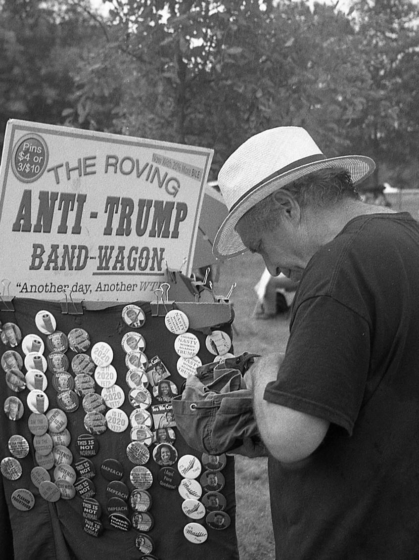 Anti-Trump paraphernalia. Washington, DC.