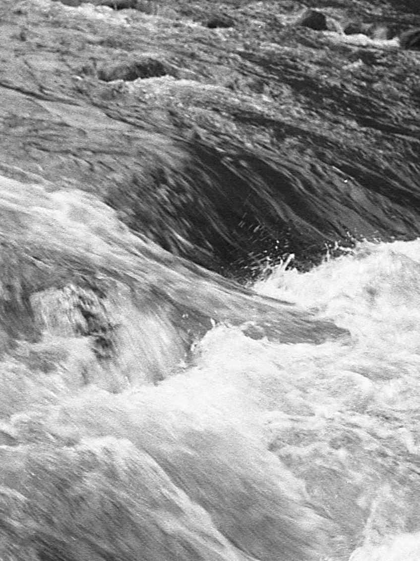 Rushing water.  Patapsco River.