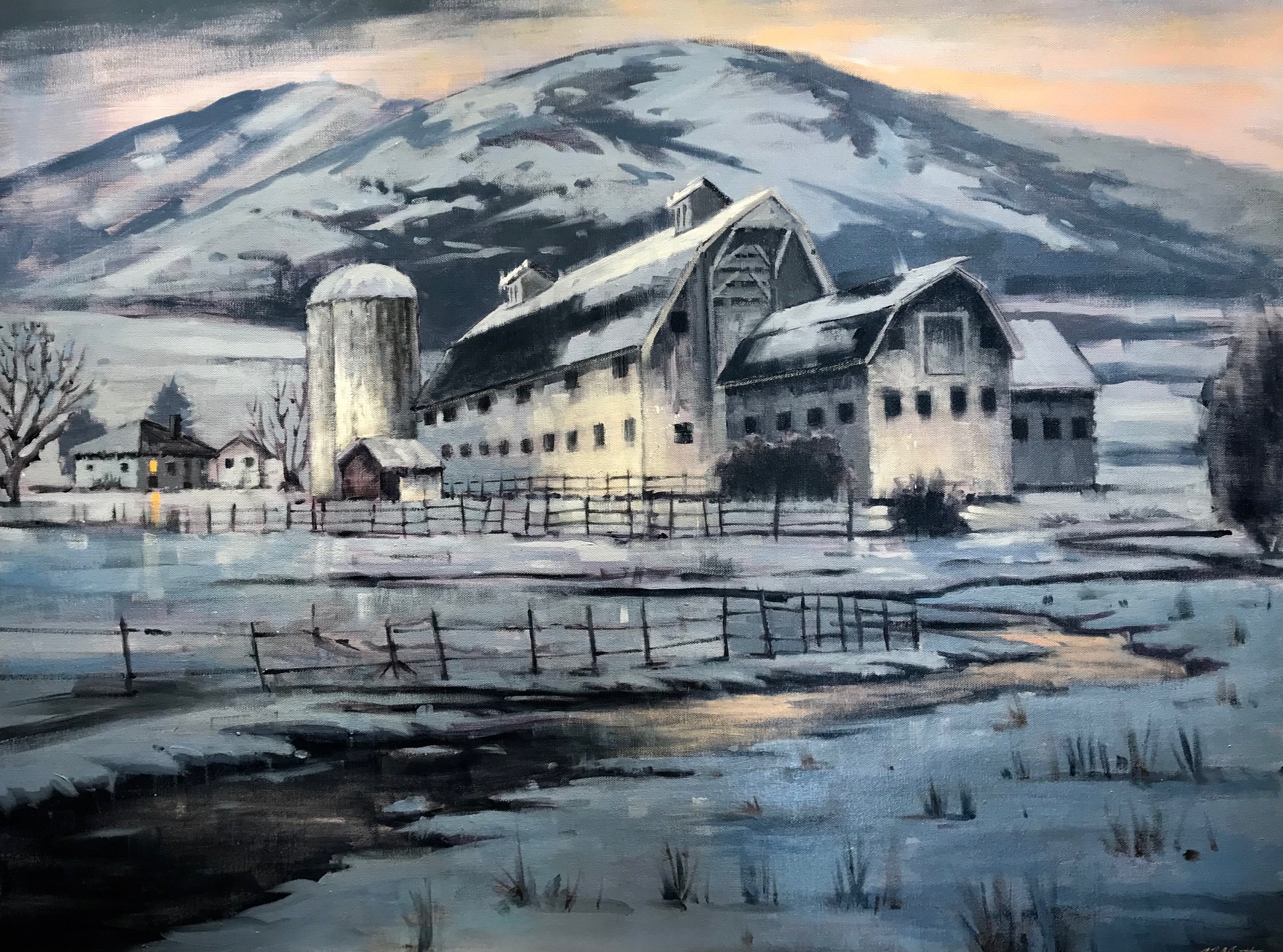 Winter Valley Sunset