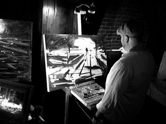 Studio - Aaron at work