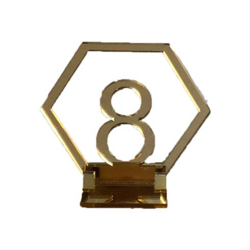 Hexagonal Table Numbers