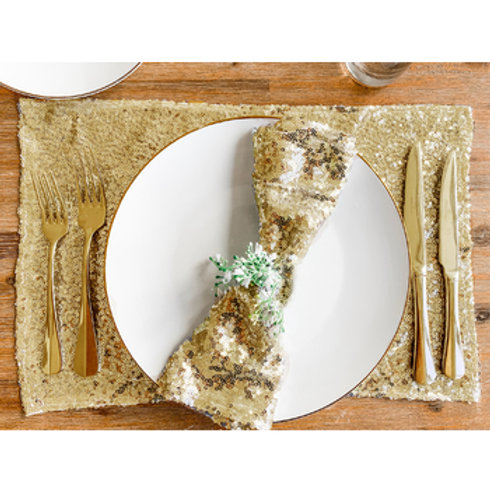 10pk Sequin Napkin/Placemat Set