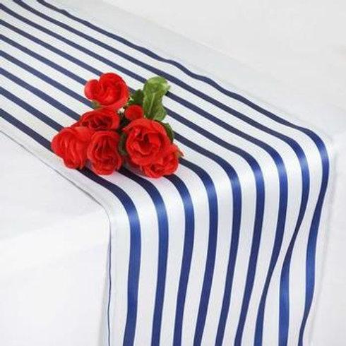 Striped Satin Table Runner