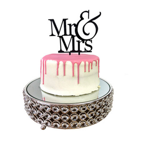 "Acrylic ""Mr & Mrs"" Cake Topper"