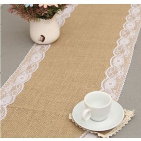 Jute & Lace Table Runner