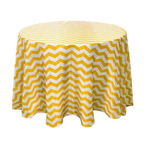 Satin Chevron Table Cloth - Round