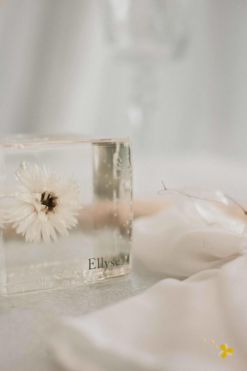 Dried Flower Resin with customised writing