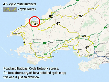 Fishguard Folk FEstival cycle map