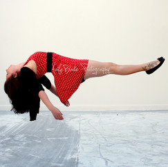 Floating Girl, Red Dress
